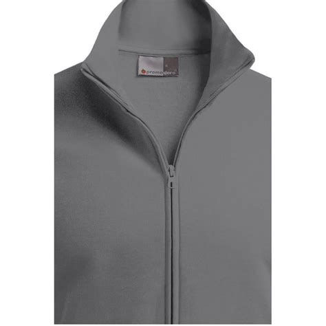 sweat jacket stand up collar