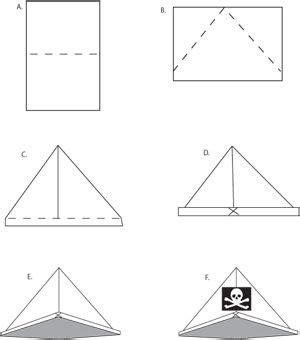 How To Fold A Paper Pirate Hat - 17 best ideas about pirate hat crafts on