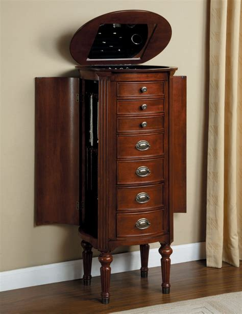 cherry wood jewelry armoire classic cherry wood jewelry collection organizer storage