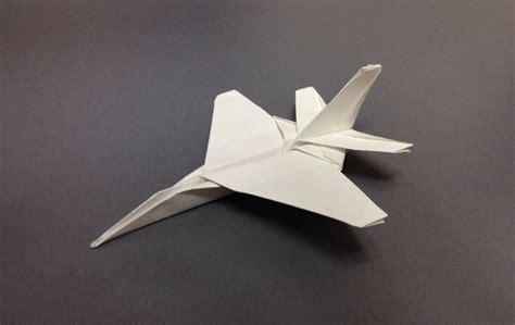 Origami F 22 - 戦闘機 折り紙 紙飛行機 f16 折り方 作り方 how to make an f16 fighting