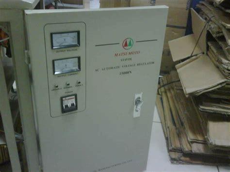 Stabilizer Listrik 6 Kva 3 Phase Matsuta sumberstavol stabilizer matsumoto 15000 n