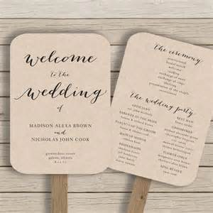 wedding fan templates free 1000 ideas about wedding program templates on