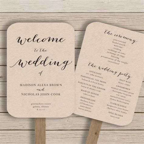 Wedding Program Fan Template 25 best ideas about fan wedding programs on