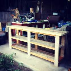 diy sofe table or entry table would also be a great plant stand buffet for the patio