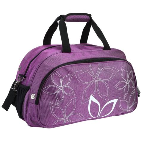 pattern for travel tote bag new 20 fashionable flowers pattern purple sports gym tote