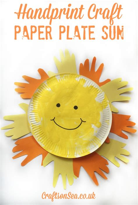 Sun Paper Plate Craft - paper plate sun sun crafts for crafts on sea