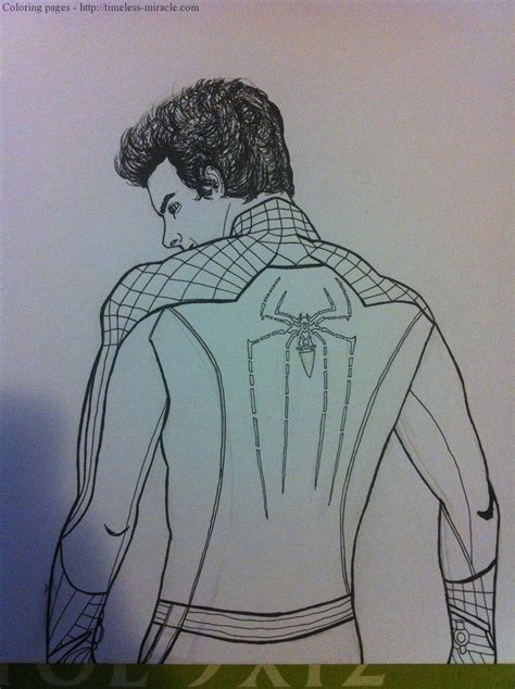 amazing spider man 2 coloring page