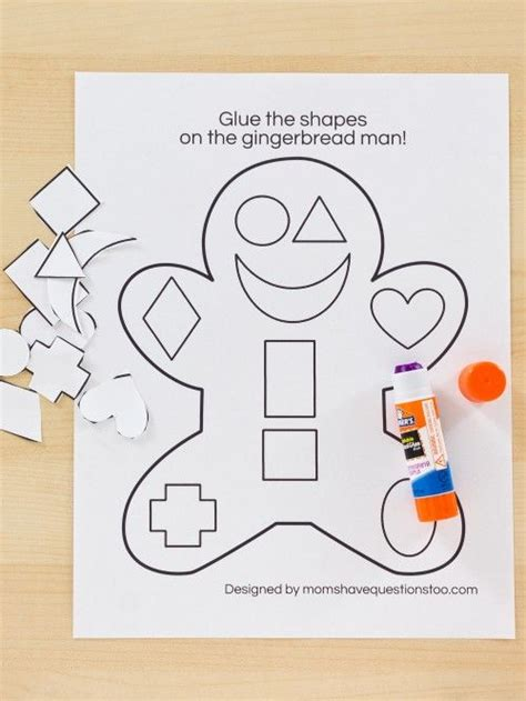 gingerbread man printable activities for preschool gingerbread cut and paste activity moms have questions