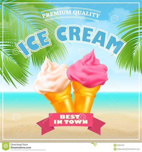 design poster ice cream ice cream poster vector illustration stock vector