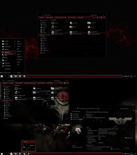 themes for windows 10 1709 the red theme for windows 10 rs 2 update by gsw953onda on