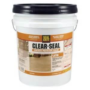 home depot concrete sealer seal krete 5 gal satin clear seal concrete protective