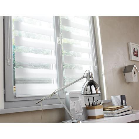 Store Jour Et Nuit Blanc by Store Enrouleur Jour Nuit Inspire Blanc Blanc N 176 0 55 X