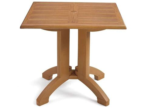 Resin Patio Table - grosfillex winston resin 36 square table us420408