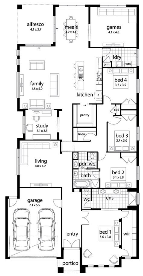 family home plan floor plan friday large family home