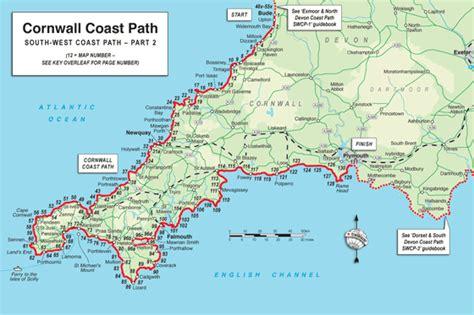 cornwall map trailblazer guide books cornwall coast path south west