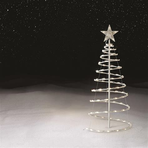 stick christmas trees with lights lighted tree artificial spiral stick x lighting outdoor decoration ebay