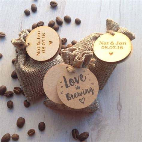Personalised Wedding Favours by Personalised Coffee Wedding Favours By Perkulatte