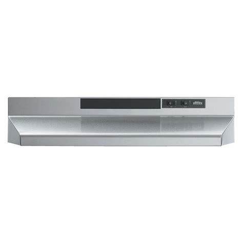 cabinet range broan f40000 series 30 in convertible range in stainless steel f403004 the home depot