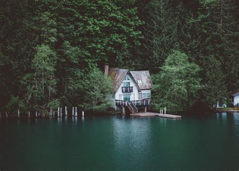 the cabin house lake crescent washington house home woods cabin