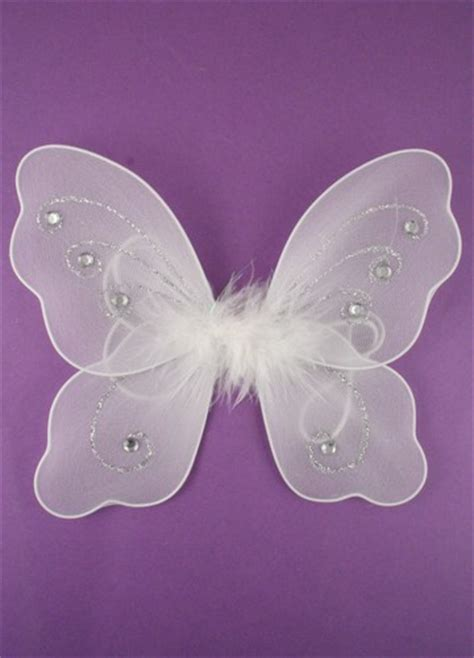 White Small Fairy Wings  Hen Night White Fairy Wings