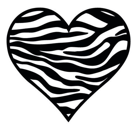 Zebra Pattern Heart | zebra pattern heart wall car decal sticker highest