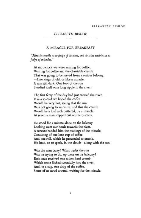 elizabeth bishop a miracle for breakfast books pin by sally on poetry fiction and other writing