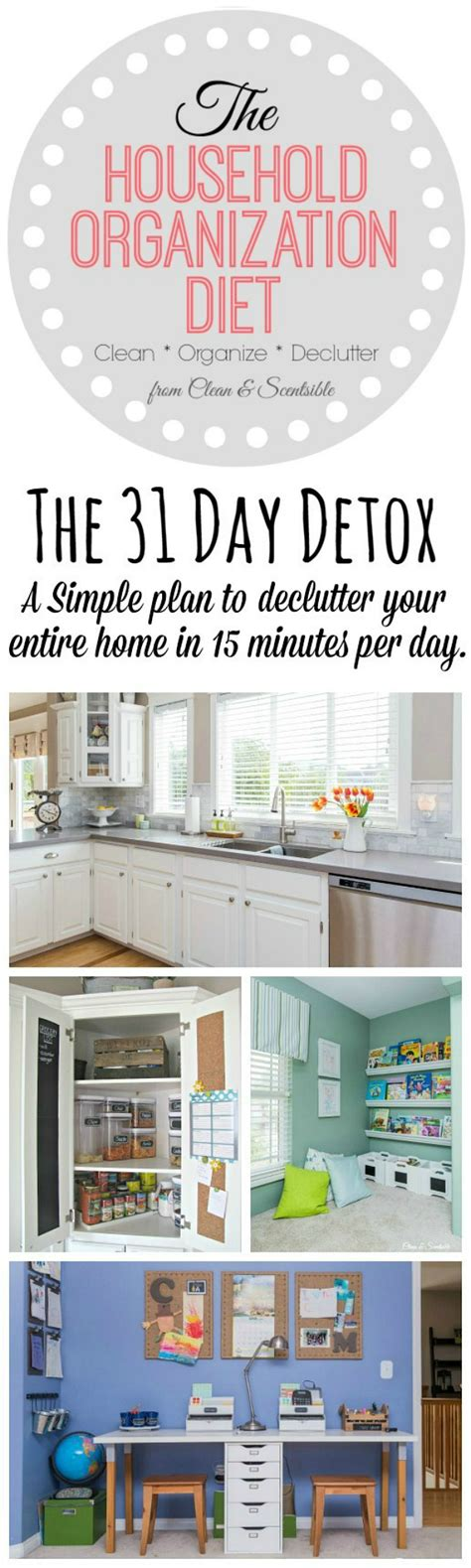 home organization plan the 31 day household detox 2016 clean and scentsible