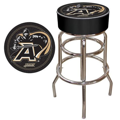 Trademark U S Army 30 In Chrome Padded Trademark Commerce Clc1000 Arm Army Padded Bar Stool