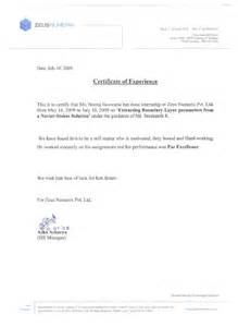 Certification Letter For Trainee Internship Certificate