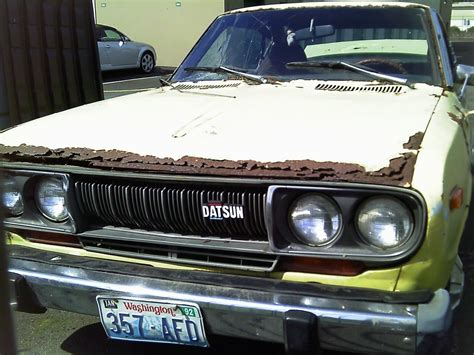 Spare Part Datsun Go cars bars 1977 datsun 710 nothing left but memories and maybe a few spare parts