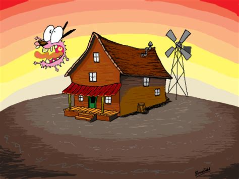 courage the cowardly dog house branedehd on doodle or die