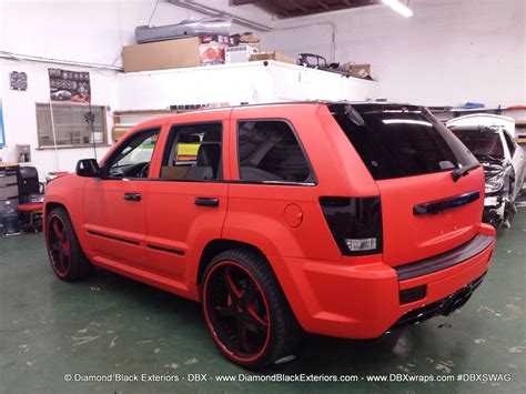 jeep matte red jeep grand cherokee srt8 wrapped in matte red 3m by dbx
