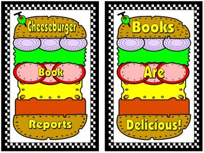 cheeseburger book report cheeseburger book report projects templates printable