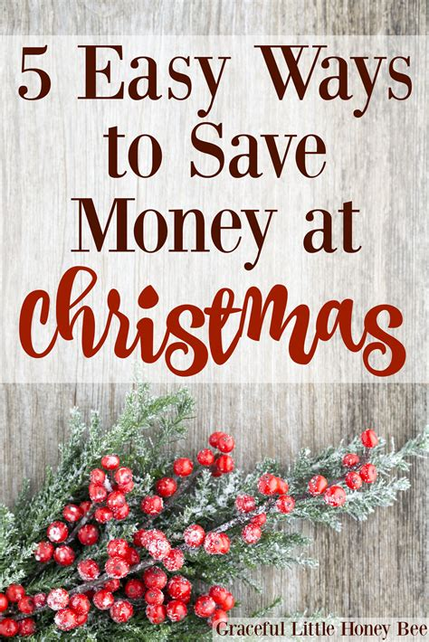 5 easy ways to save money at christmas graceful little