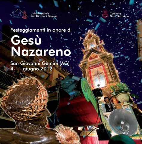 ufficio collocamento adrano ges 249 nazareno 2012 il programma dei festeggiamenti