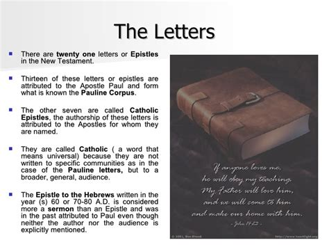 Letters In The Bible