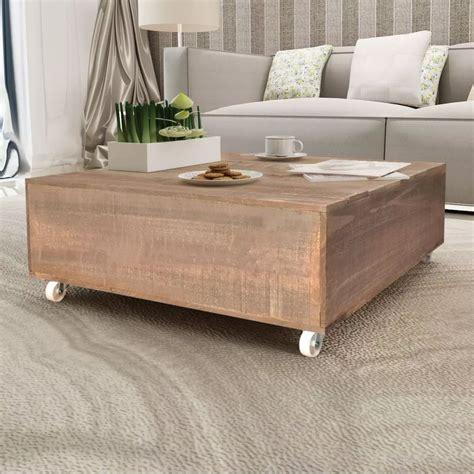 tables bois massif acheter vidaxl table basse bois massif marron pas cher