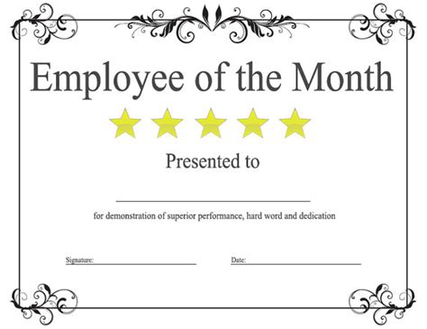employee of the month template search results calendar