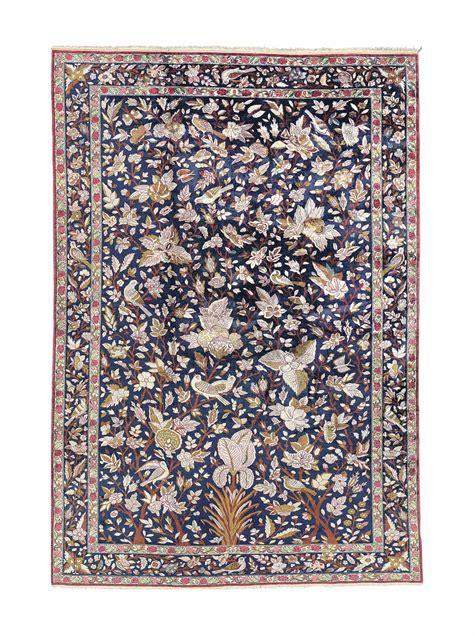 Alexandre Christie 2603 a silk qum carpet central circa 1930 christie s