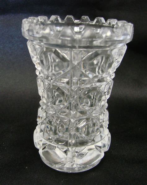 Glass Vases For Bar by Vintage Federal Glass Button Bar Small Flower Bud