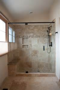 tile showers with bench and shelves tile moen