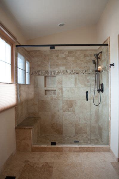 shower built in bench tile showers with bench and shelves tile moen