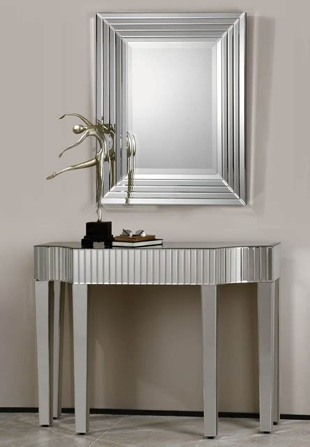 Hallway Console Table And Mirror Mirrored Hallway Table