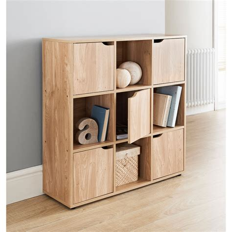 Turin 9 Cube Shelving Unit   Storage & Shelves   B&M