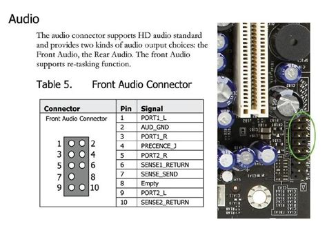 F Audio Pinout by Removing Pins From A 10 Pin Usb Ac97 Hd Audio Internal
