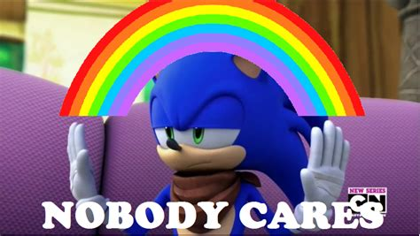 Sonic Boom Meme - nobody cares sonic boom meme by brandonale on deviantart