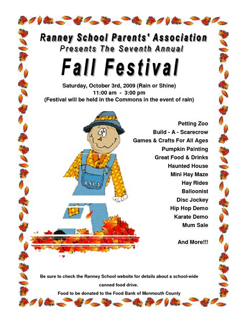 7 best images of free printable fall festival flyer