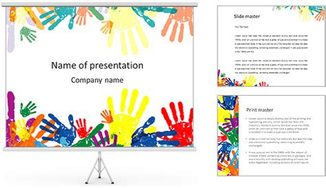 free preschool powerpoint templates colorful childs palms powerpoint template backgrounds id