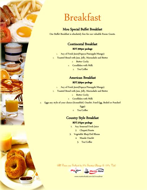Buffet Breakfast In Uttara Menu For Brunch Buffet
