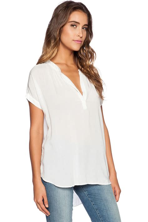 sleeve v neck chiffon blouse new arrival white v neck sleeve oversize chiffon blouse